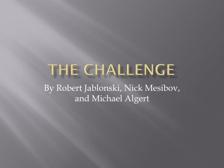 the challenge n.