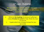 1 st sign dukkha