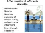 3 the cessation of suffering is attainable