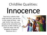 childlike qualities innocence