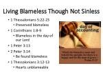 living blameless though not sinless