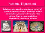 material expression