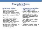 2 key relational themes wright et al 2005
