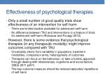 effectiveness of psychological therapies