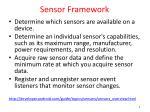 sensor framework
