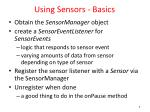 using sensors basics