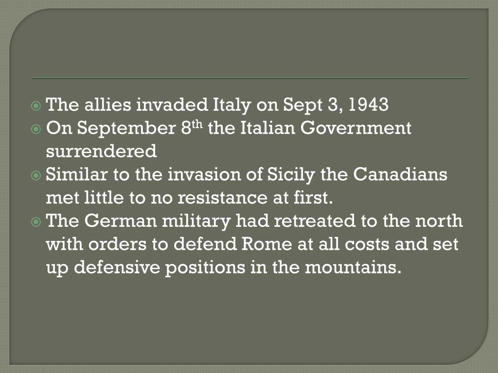 PPT - The Invasion of Sicily PowerPoint Presentation - ID