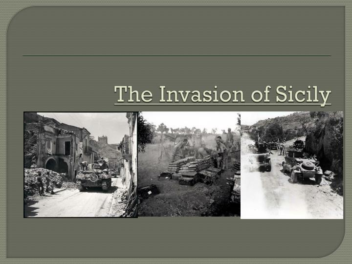 the invasion of sicily n.
