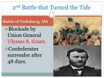 2 nd battle that turned the tide