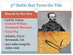 3 rd battle that turns the tide
