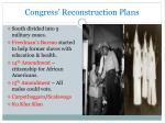 congress reconstruction plans