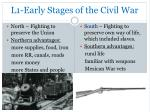 l1 early stages of the civil war