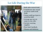 l2 life during the war