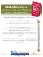 medication safety user centered design workshop uoft s ihi open s chool chapter