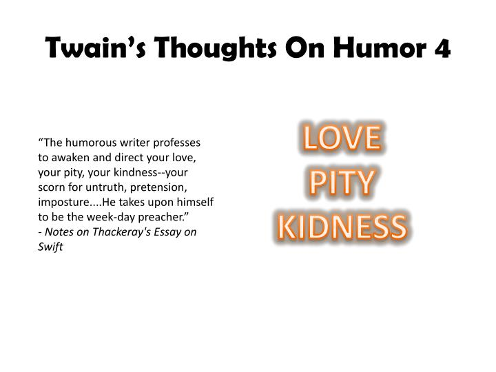 humorous essayists What contributes to the humor in an anecdote the circumstances may be exaggerated, it connects in some way to our own lives, there is an element of slight embarrassment the following sentence is punctuated correctly.