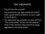 two arguments