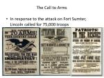 the call to arms