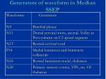 generators of waveform in median ssep