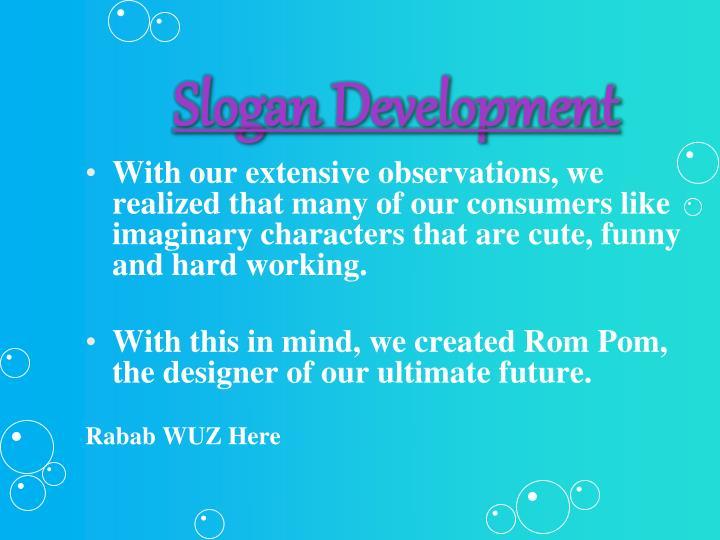 Slogan development