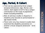 age period cohort