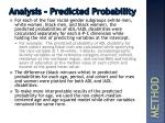 analysis predicted probability