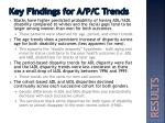 key findings for a p c trends