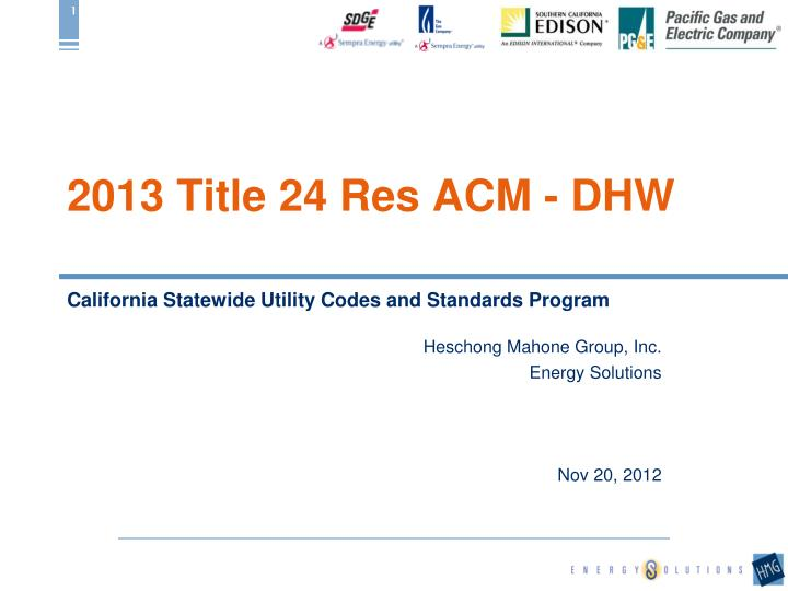 2013 title 24 res acm dhw n.