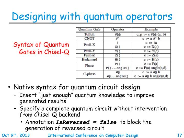Designing with quantum