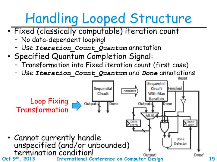 Handling Looped Structure