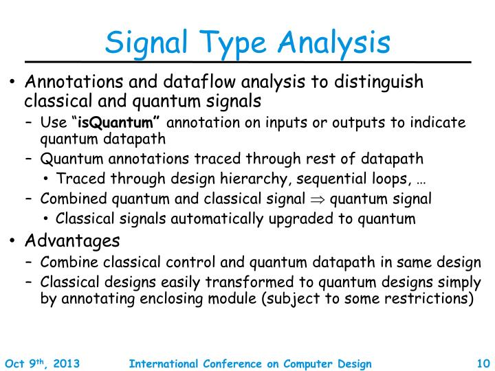 Signal Type Analysis
