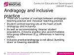 andragogy and inclusive practice