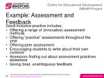 example assessment and feedback