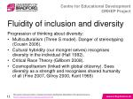 fluidity of inclusion and diversity