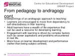 from pedagogy to andragogy cont