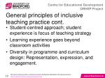 general principles of inclusive teaching practice cont