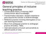 general principles of inclusive teaching practice