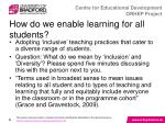 how do we enable learning for all students