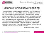 rationale for inclusive teaching