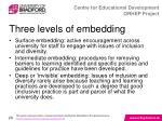 three levels of embedding