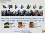 real time articulated hand pose estimation using semi supervised transductive regression forests