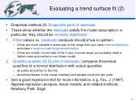 evaluating a trend surface fit 2