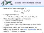 general polynomial trend surfaces