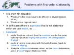 problems with first order stationarity