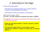 3 searching for the higgs