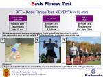 b asis fitness test
