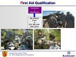 f irst aid qualification