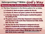 necessity for authority in religious matters2