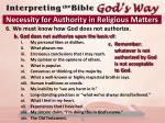 necessity for authority in religious matters4