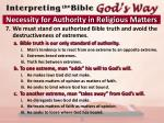 necessity for authority in religious matters5