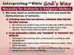 necessity for authority in religious matters6